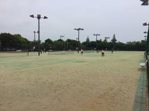 横芝光町ふれあい坂田池公園テニスコート 2017年10月  4,500㎡