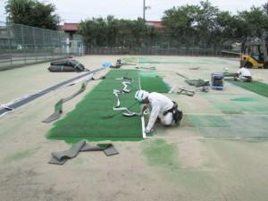 補修用人工芝として活用
